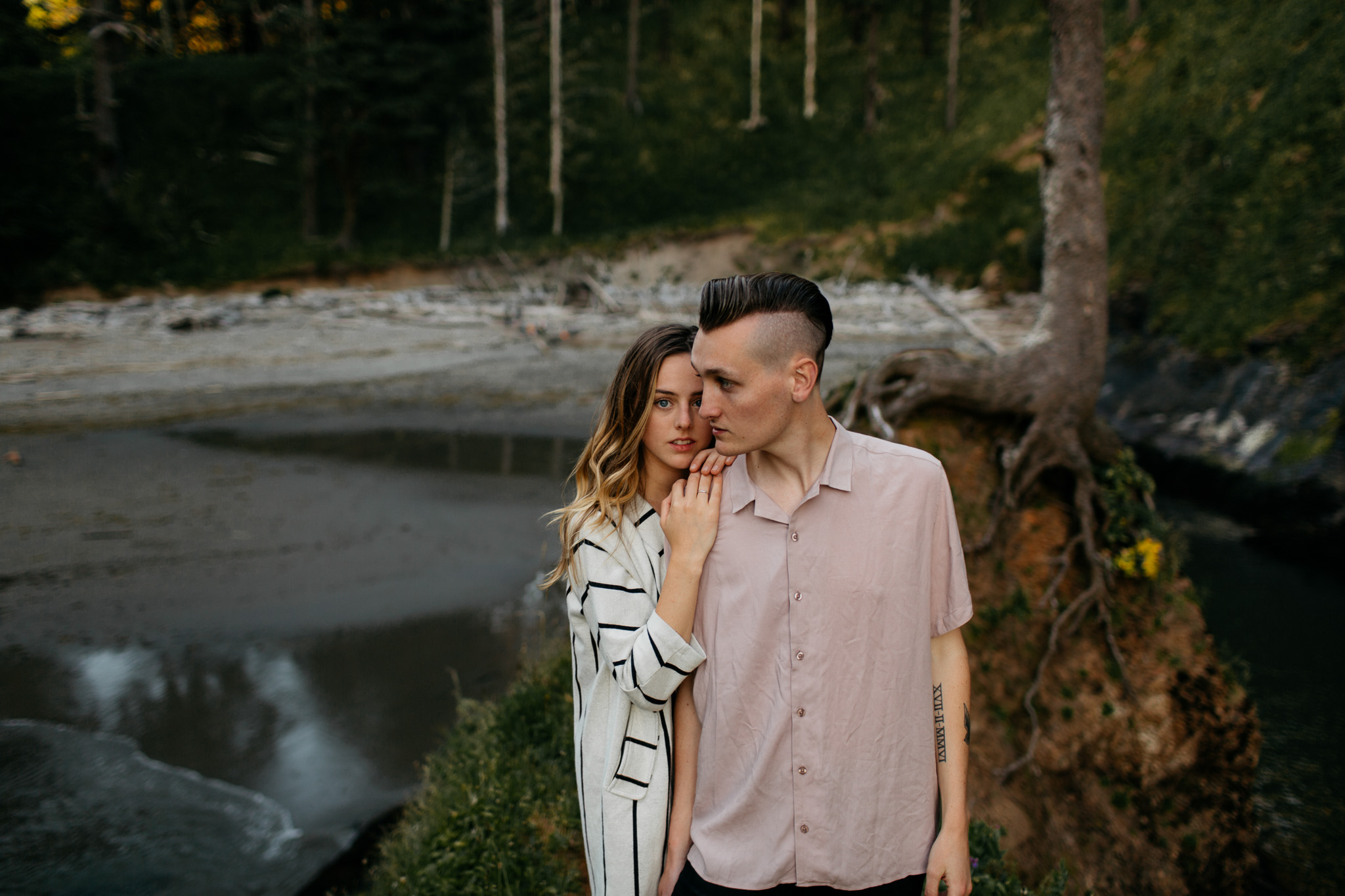 Engagement Session at Cape Disappointment Brittney Hyatt Photography
