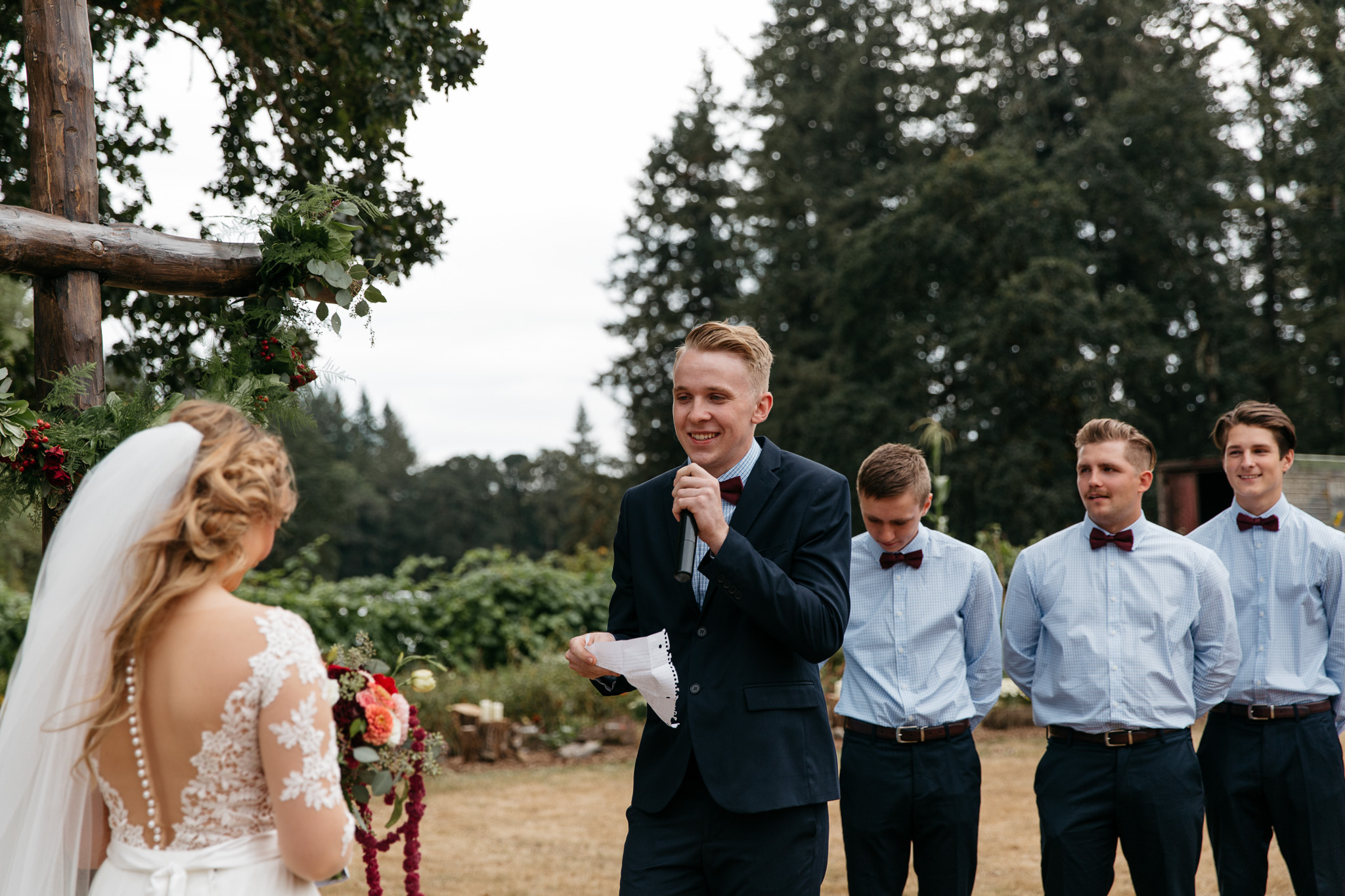 Chic Portland Backyard Wedding Brittney Hyatt Photography