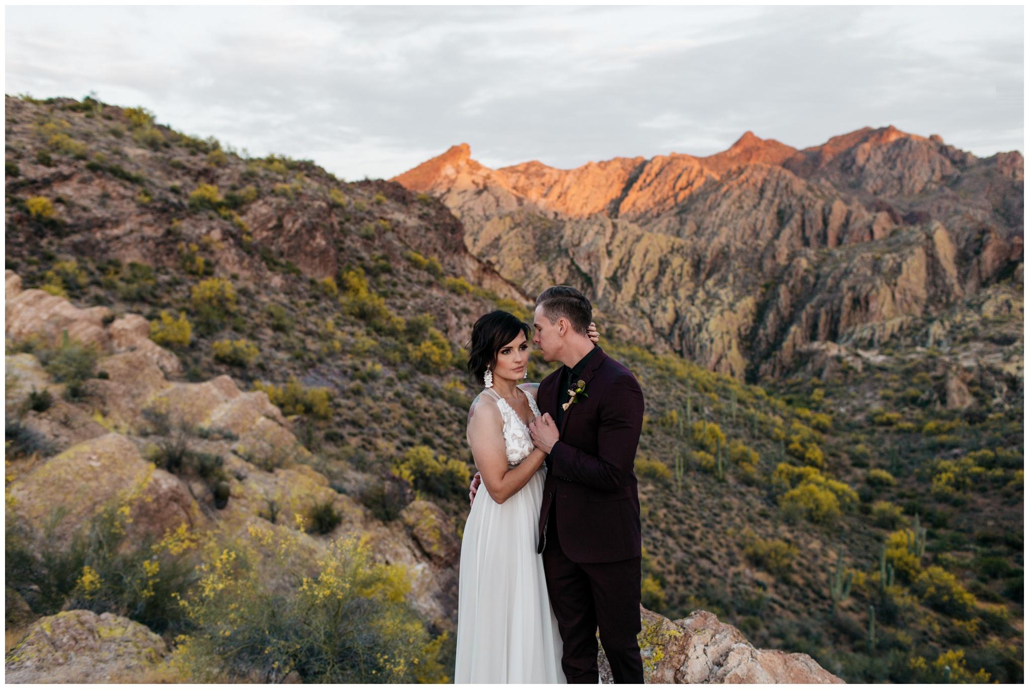 Adventurous Arizona Desert Elopement Superstition Mountains Brittney Hyatt Photography