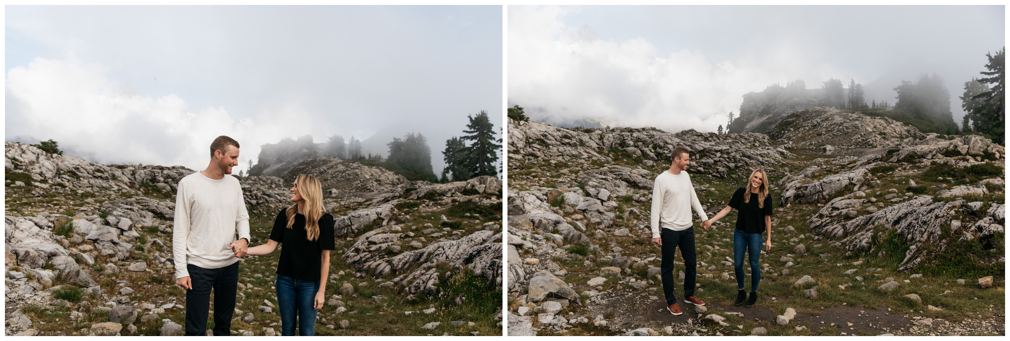 Artist Point Mt. Baker Engagement Session Seattle Washington with Brittney Hyatt Photography