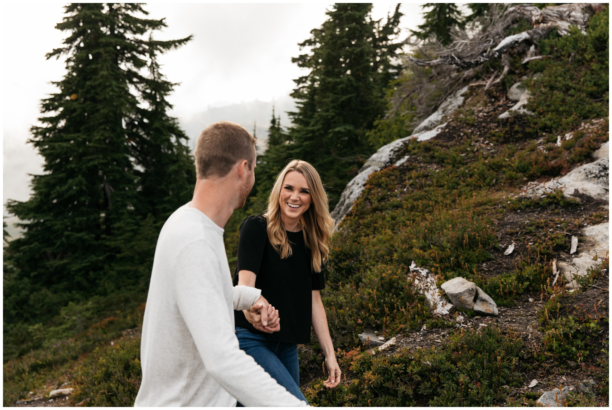 Summer Mountains Artist Point Mt. Baker Washington Engagement Session with Brittney Hyatt Photography