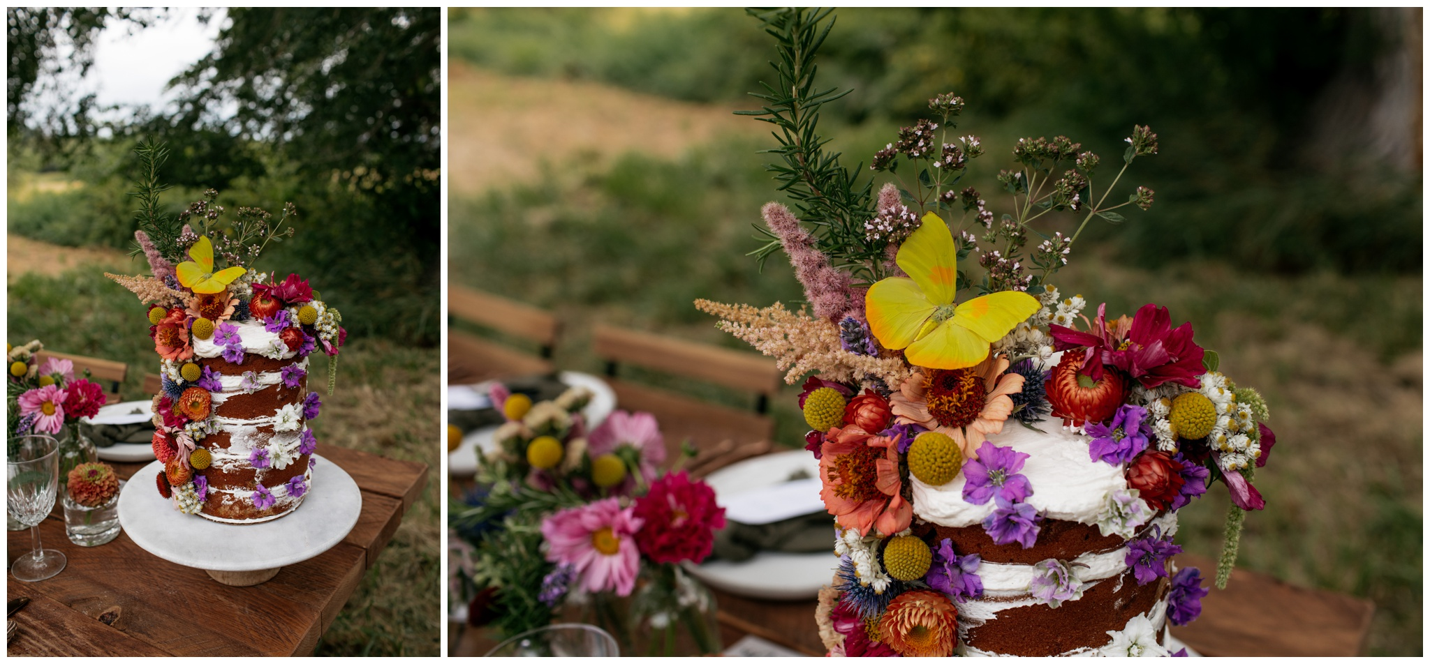 Intimate wildflower summer solstice wedding at Eberle Barn on Olympic Peninsula