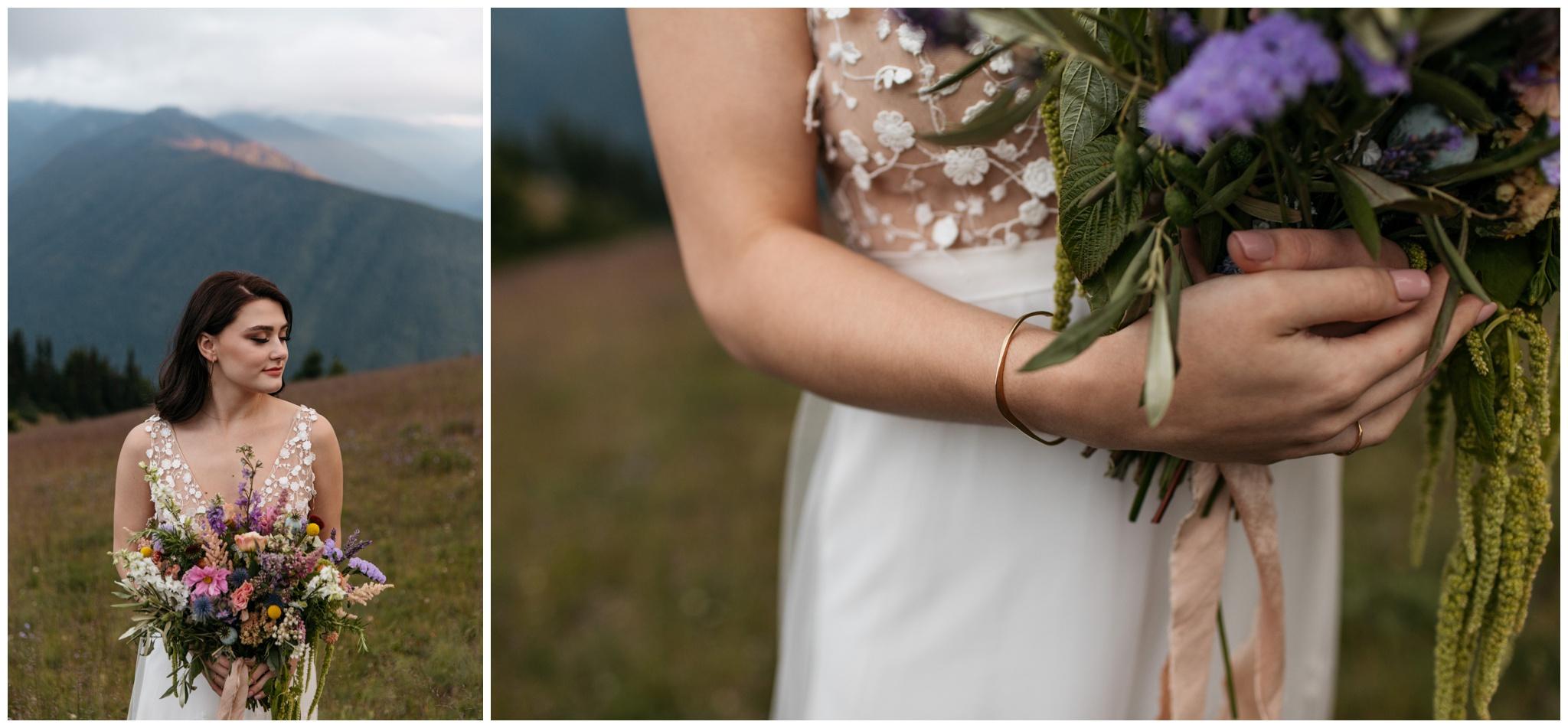Intimate wildflower summer solstice wedding at Eberle Barn on Olympic Peninsula