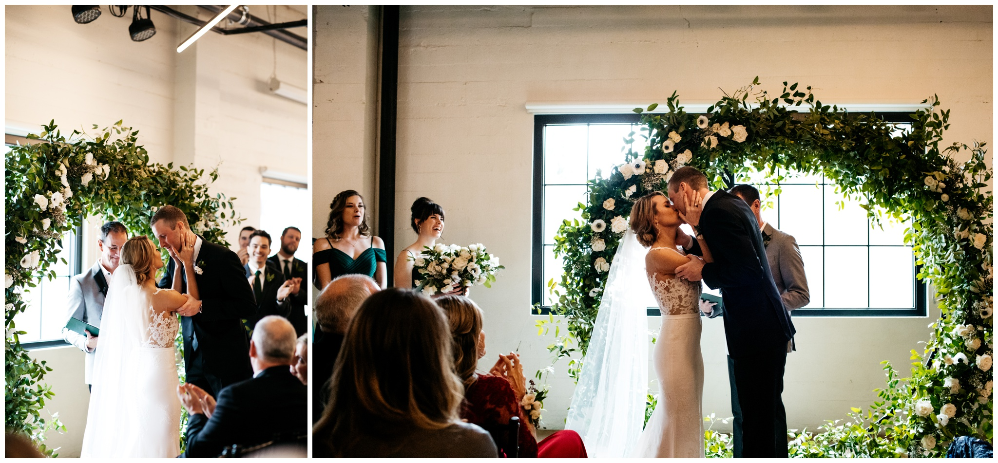 Clean modern wedding at Block 41 in Seattle Washington with Brittney Hyatt Photography