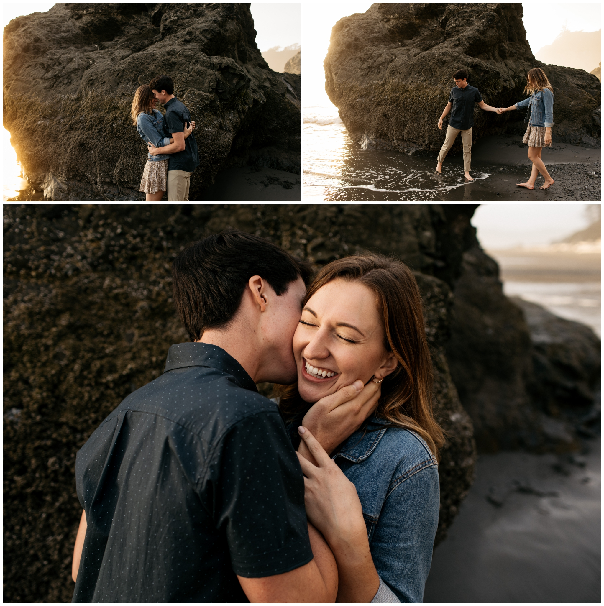 Ruby Beach Engagement With Brittney Hyatt Photography Seattle Wedding and Elopement Photographer